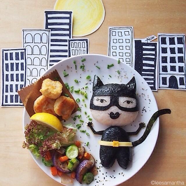 batman-kobieta_kot-postacie_z_bajek-dzieci_gotuja-jedzenie_dla_dzieci-food_art-funny_food-kanapki-jako_sadzone-samantha_lee-posilek_dla_niejadka-2.jpg