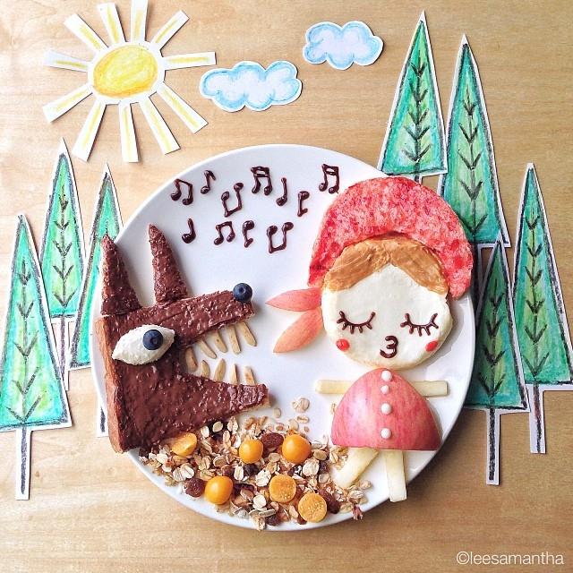 czerwony_kapturek-postacie_z_bajek-dzieci_gotuja-jedzenie_dla_dzieci-food_art-funny_food-kanapki-jako_sadzone-samantha_lee-posilek_dla_niejadka-2.jpg