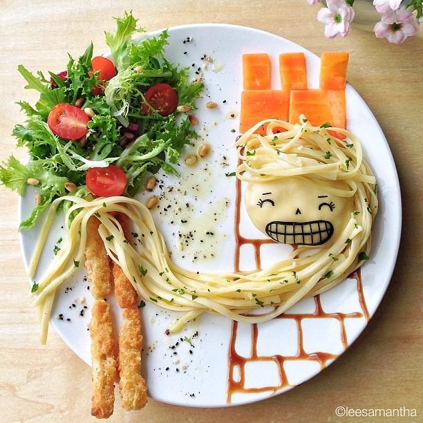 roszpunka-postacie_z_bajek-dzieci_gotuja-jedzenie_dla_dzieci-food_art-funny_food-kanapki-jako_sadzone-samantha_lee-posilek_dla_niejadka-.jpg