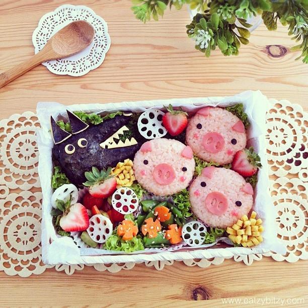 trzy_swinki_i_wilk-postacie_z_bajek-dzieci_gotuja-jedzenie_dla_dzieci-food_art-funny_food-kanapki-jako_sadzone-samantha_lee-posilek_dla_niejadka.jpg